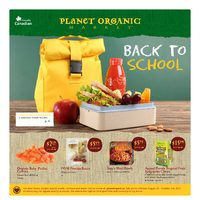 Planet Organic - Monthly Specials - Back To School Flyer
