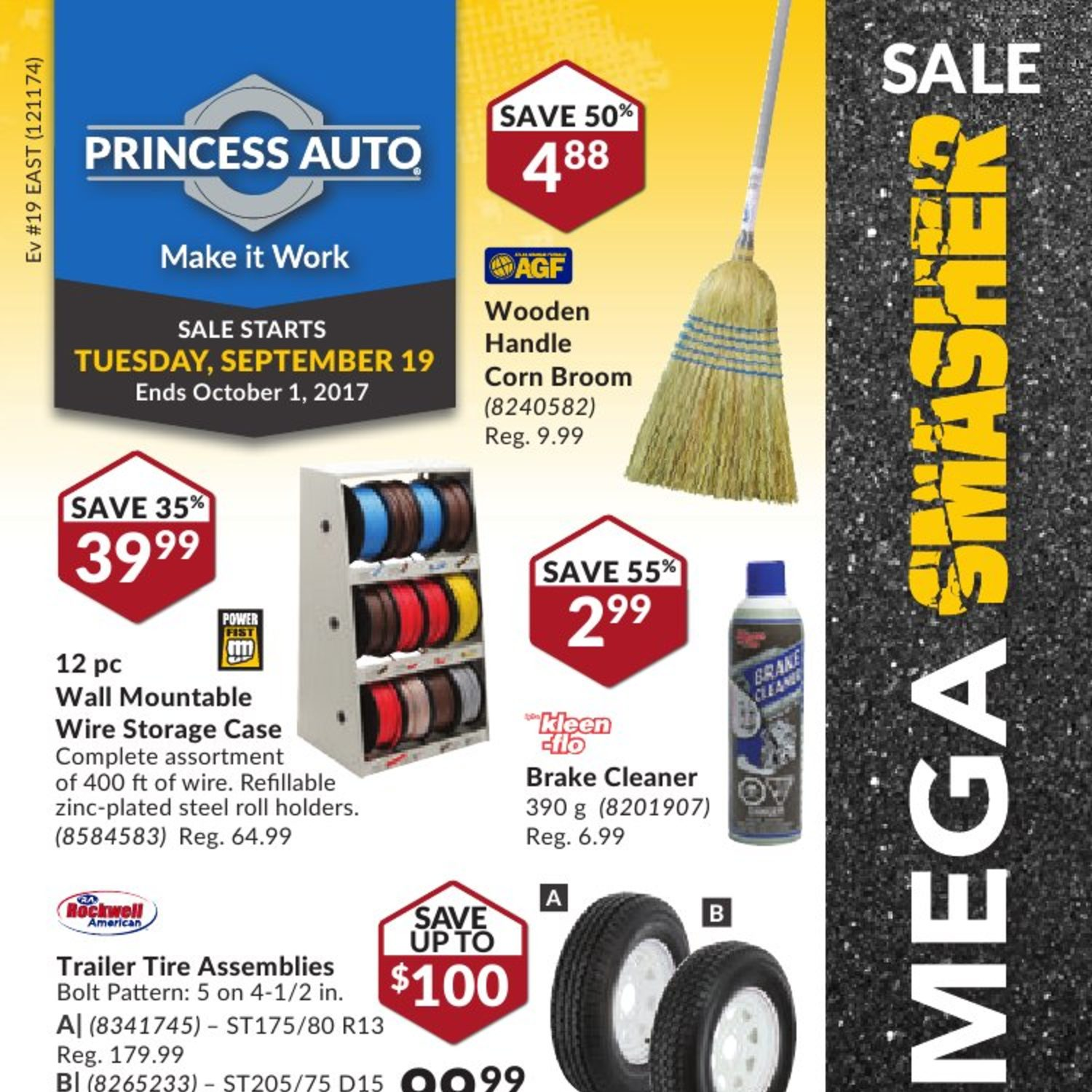 Princess Auto Weekly Flyer Mega Smasher Sale Sep 19 Oct 1 12 Volt Automotive Diode Blade On Wiring Grommets Tools