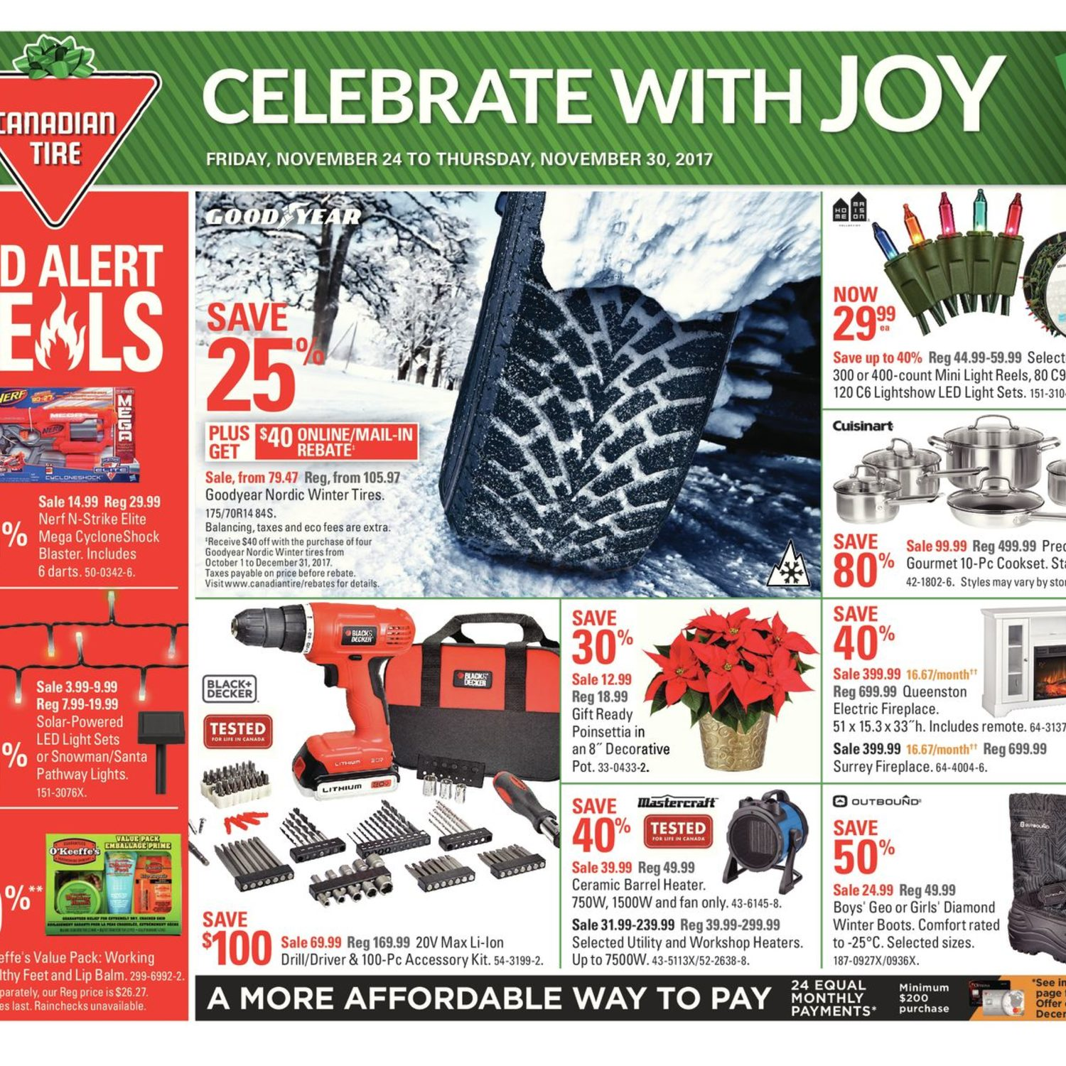 Canadian Tire Weekly Flyer Weekly Celebrate with Joy Nov 24