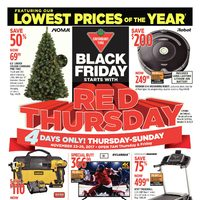 Canadian Tire - 4 Days Only! - Black Friday Starts with Red Thursday Flyer