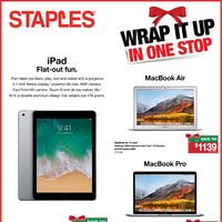 Staples - Weekly - Wrap It Up In One Stop Flyer