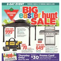 Canadian Tire - 8-Day Event - The Big Easter Hunt Sale Flyer