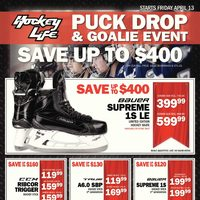 Pro Hockey Life - Puck Drop & Goalie Event Flyer