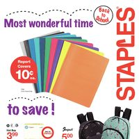Staples - Weekly - Back To School Flyer