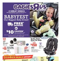 Babies R Us - 2 Great Weeks - Babyfest Sale Flyer