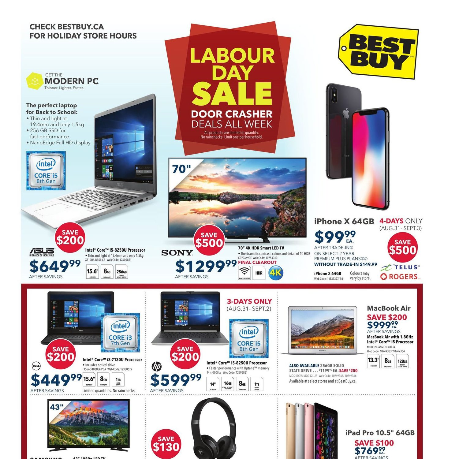 fa0ab5a2b26 Best Buy Weekly Flyer - Weekly - Labour Day Sale - Aug 31 – Sep 6 -  RedFlagDeals.com