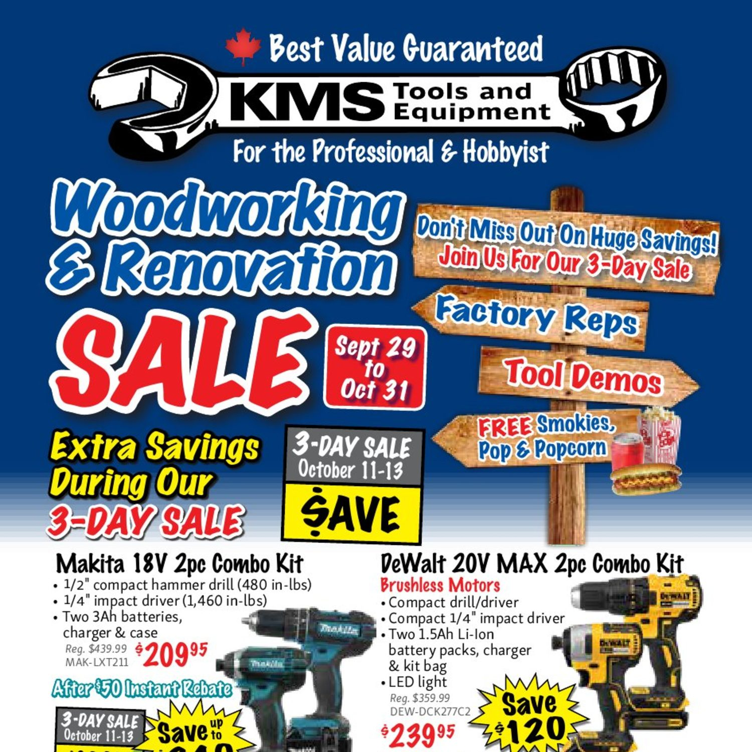 KMS Tools Weekly Flyer - Woodworking & Renovation Sale - Sep
