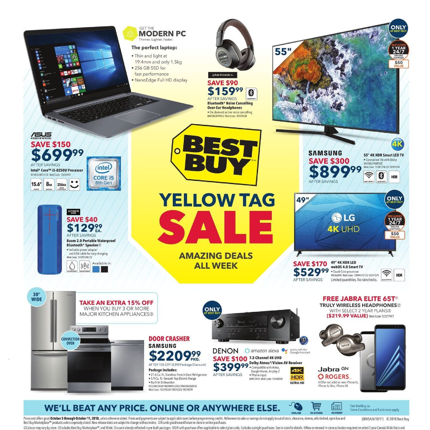 Best Buy Weekly Flyer - Weekly - Yellow Tag Sale - Oct 5