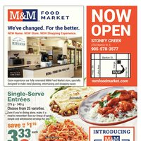 M & M Food Market - Stoney Creek - Now Open Flyer
