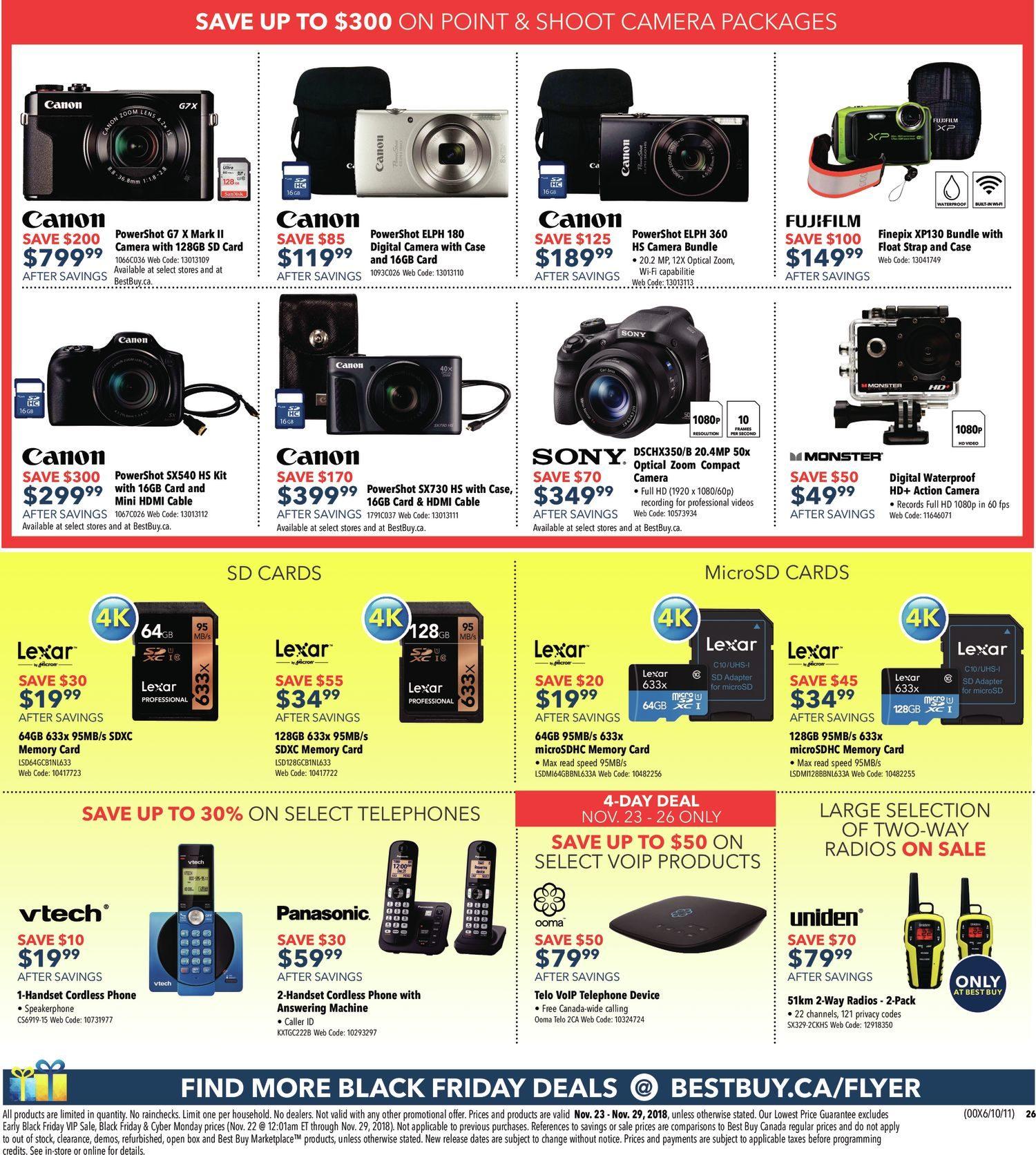 Best Buy Weekly Flyer Black Friday Sale Nov 23 29 Jam Tangan 8gb Spy Cam Watch Camera Sport