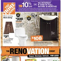 Home Depot - Weekly - The Renovation Event Flyer
