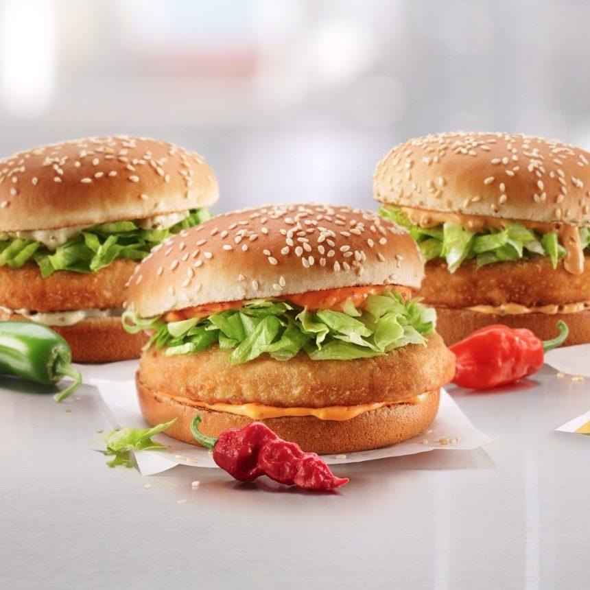 McDonald's Brings Three Spicy McChicken Sandwiches to Canada