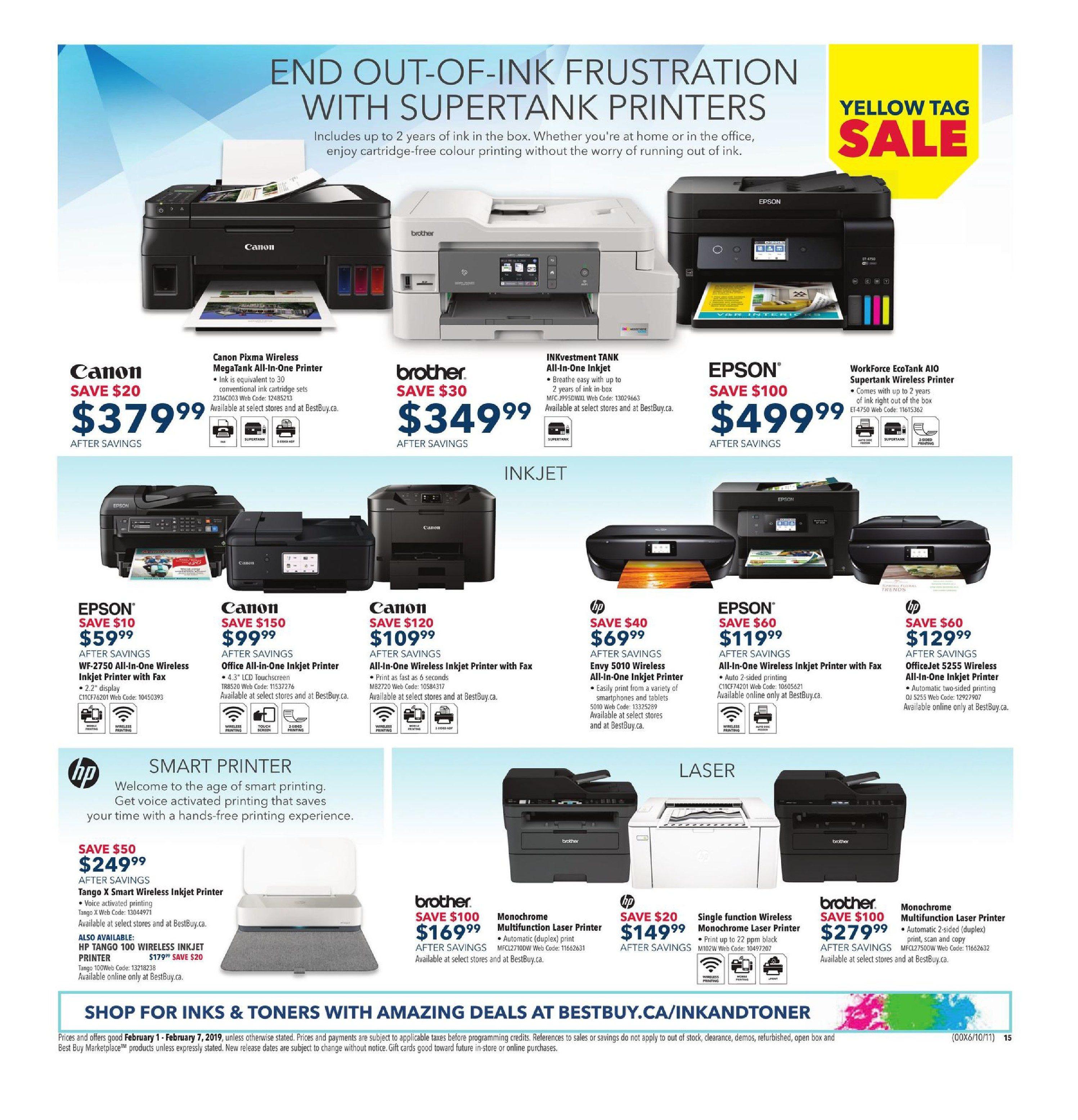 Best Buy Weekly Flyer - Weekly - Yellow Tag Sale - Feb 1 – 7
