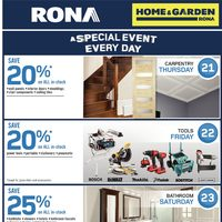 Rona - Home & Garden - A Special Event Every Day Flyer