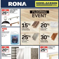 Rona - Home & Garden - Flooring Event Flyer