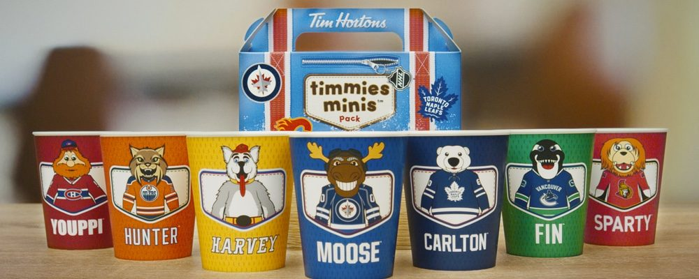 Tim Hortons Releases Limited Edition Canadian NHL Team Mascot Collectable Cups