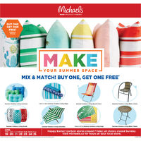Michaels - Weekly - Make Your Summer Space Flyer