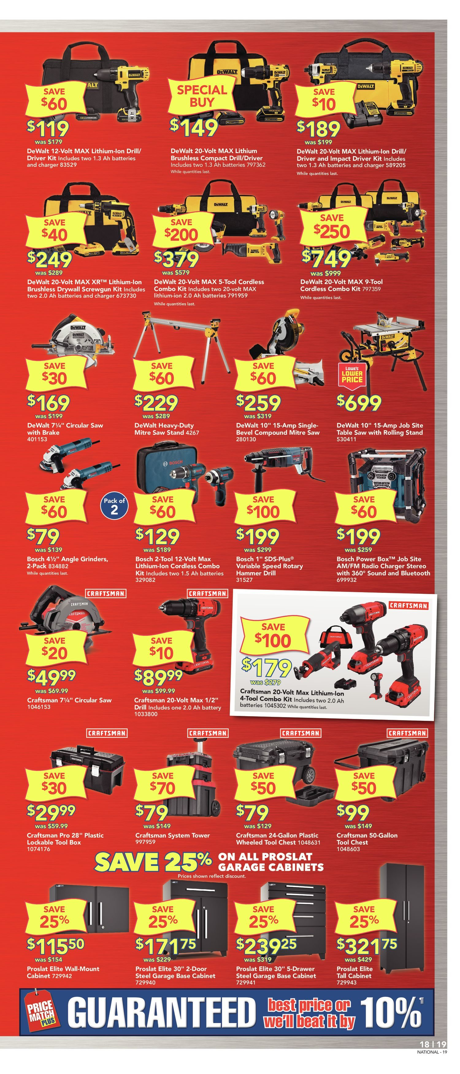 Lowe's Weekly Flyer - Weekly - 12 Year Anniversary Sale