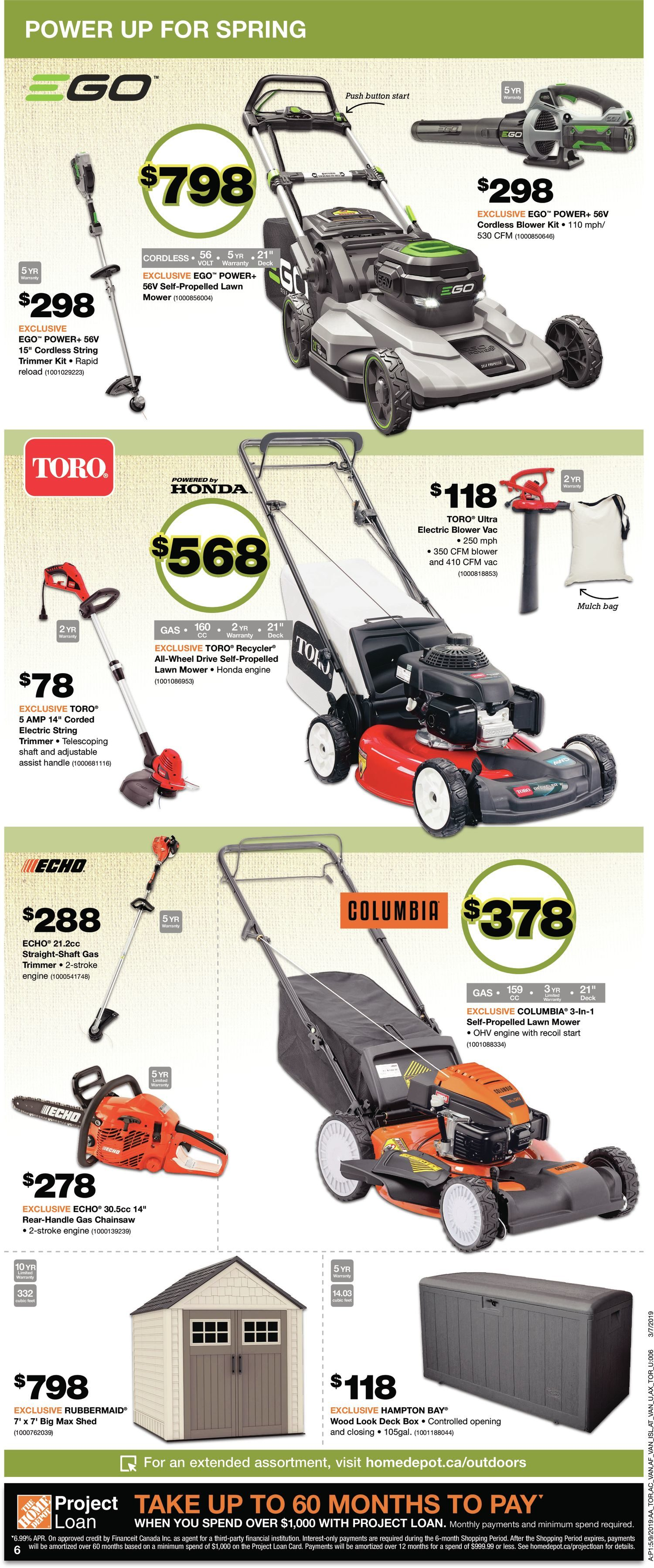 62814577789 Home Depot Weekly Flyer - Weekly - Save On Spring - May 9 – 15 -  RedFlagDeals.com