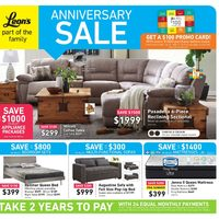 Leon's - Part of The Family - Anniversary Sale Flyer