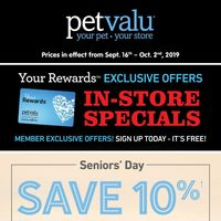 - Your Rewards Exclusive Offers - In-Store Specials Flyer