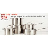 Zwilling Passion 10-Piece 18/10 Stainless Steel Cookware Set