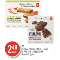 PC Cereal, Fibre Or Protein Bars