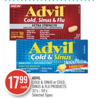 Advil Cold & Sinus Or Cold, Sinus & Flu Products