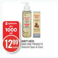 Burt's Bees Skin Care Products