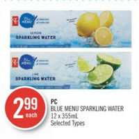 PC Blue Menu Sparkling Water