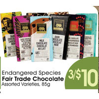 Endangered Species Fair Trade Chocolate
