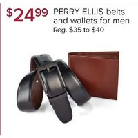 Perry Ellis Belts And Wallets For Men
