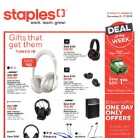 Staples - Weekly - Gifts That Get Them Tuned In Flyer