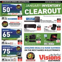 Visions Electronics - Weekly - January Inventory Clearout Flyer