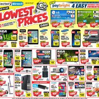 Factory Direct - Lowest Prices Flyer