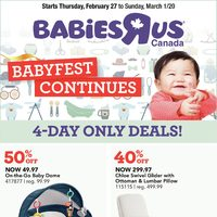 Babies R Us - 4-Days Only - Babyfest Continues Flyer
