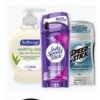 Softsoap Liquid Hand Soap Pump, Irish Spring Bar Soap or Lady/Mennen Speed Stick Premium Antiperspirant