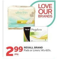 Rexall Brand Pads Or Liners