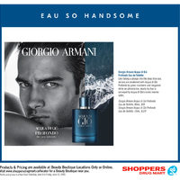 Shoppers Drug Mart - Beauty Boutique Locations Only - Eau So Handsome Flyer