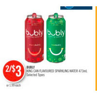 Bubly King Can Flavoured Sparkling Water
