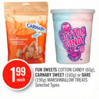 Fun Sweets Cotton Candy, Carnaby Sweet Or Dare Marshmallow Treats