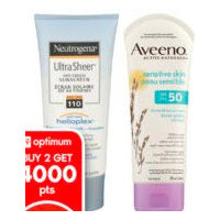 Aveeno Lotion, Neutrogena or Aveeno Skin Care Products