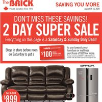 The Brick - Saving You More - Appliance Super Sale Flyer