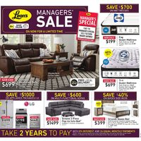 Leon's - Managers' Sale Flyer