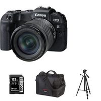 Canon EOS RP Mirrorless Digital Camera With 24-105mm RF-STM Lens Kit Tripod, 128GB Memory Card And Canon 700SR DSLR System Bag