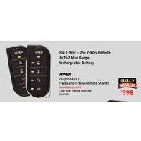 Viper Responder LE 2-Way And 1-Way Remote Starter