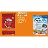 Purina One or OTI Dog Food, Dentalife Dog Treat