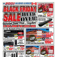 2001 Audio Video - Black Friday Sale Held Over! Flyer