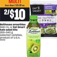 Bolthouse Smoothies Or Eat Smart Kale Salad Kits