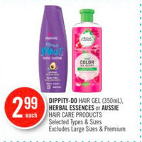 Dippity-Do Hair Gel, Herbal Essences Or Aussie Hair Care Products